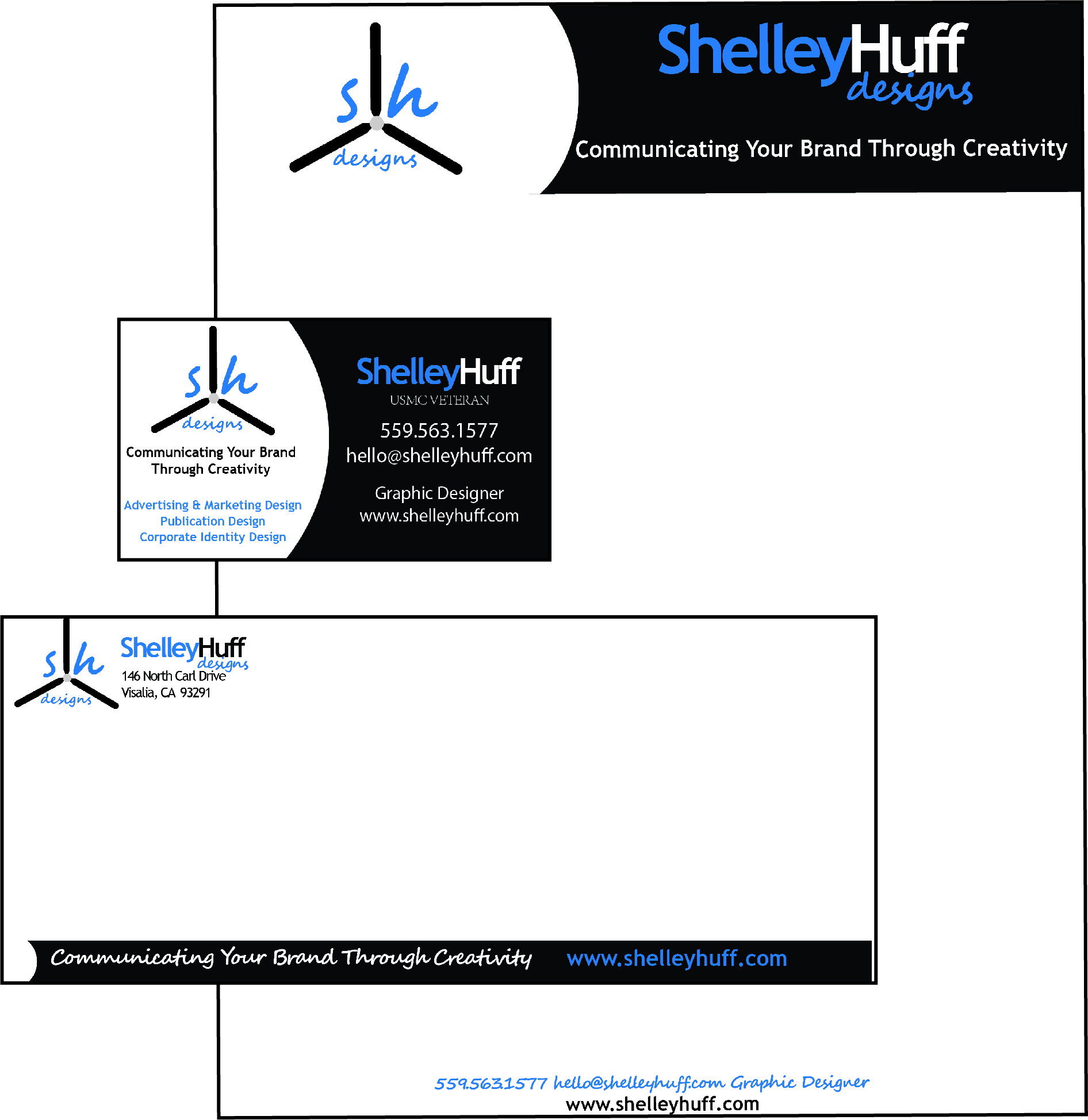 Identity Set Design- Business Card, Letterhead, and Envelope $50 savings