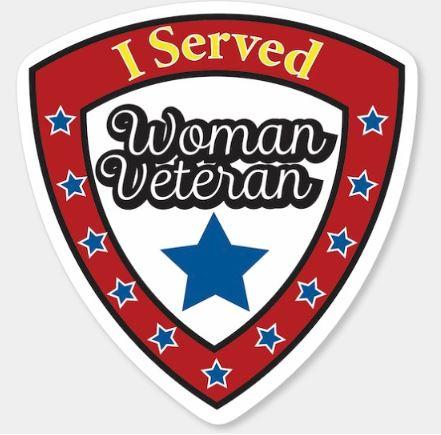 Decal Women Veteran-I Served